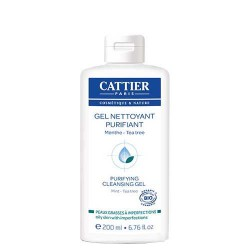 Gel nettoyant purifiant Menthe & Tea Tree CATTIER
