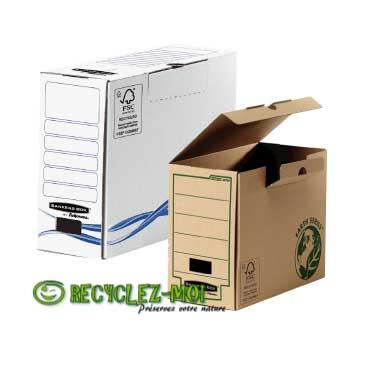 Les boîtes à archives en vente sur www.esprit-recycle.fr
